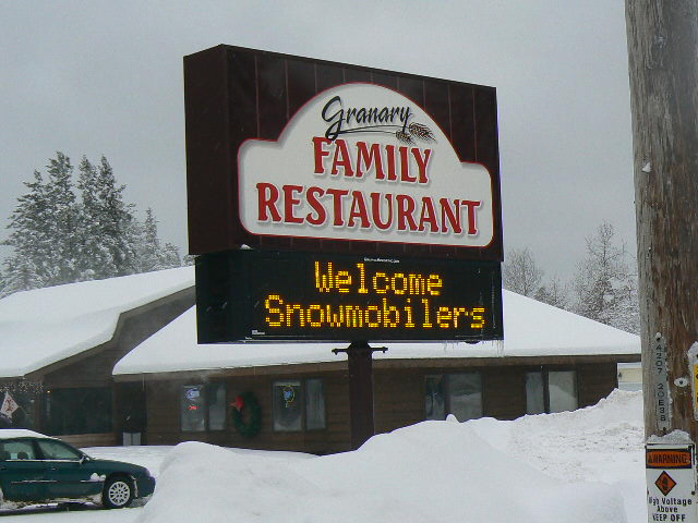 Welcome snowmobilers: Fuel up in Boulder Junction