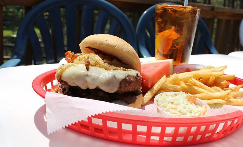 Cheeseburger Headwaters Restaurant and Tavern Boulder Junction Wisconsin