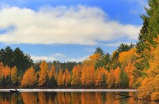 Boulder Junction Wisconsin lake in fall