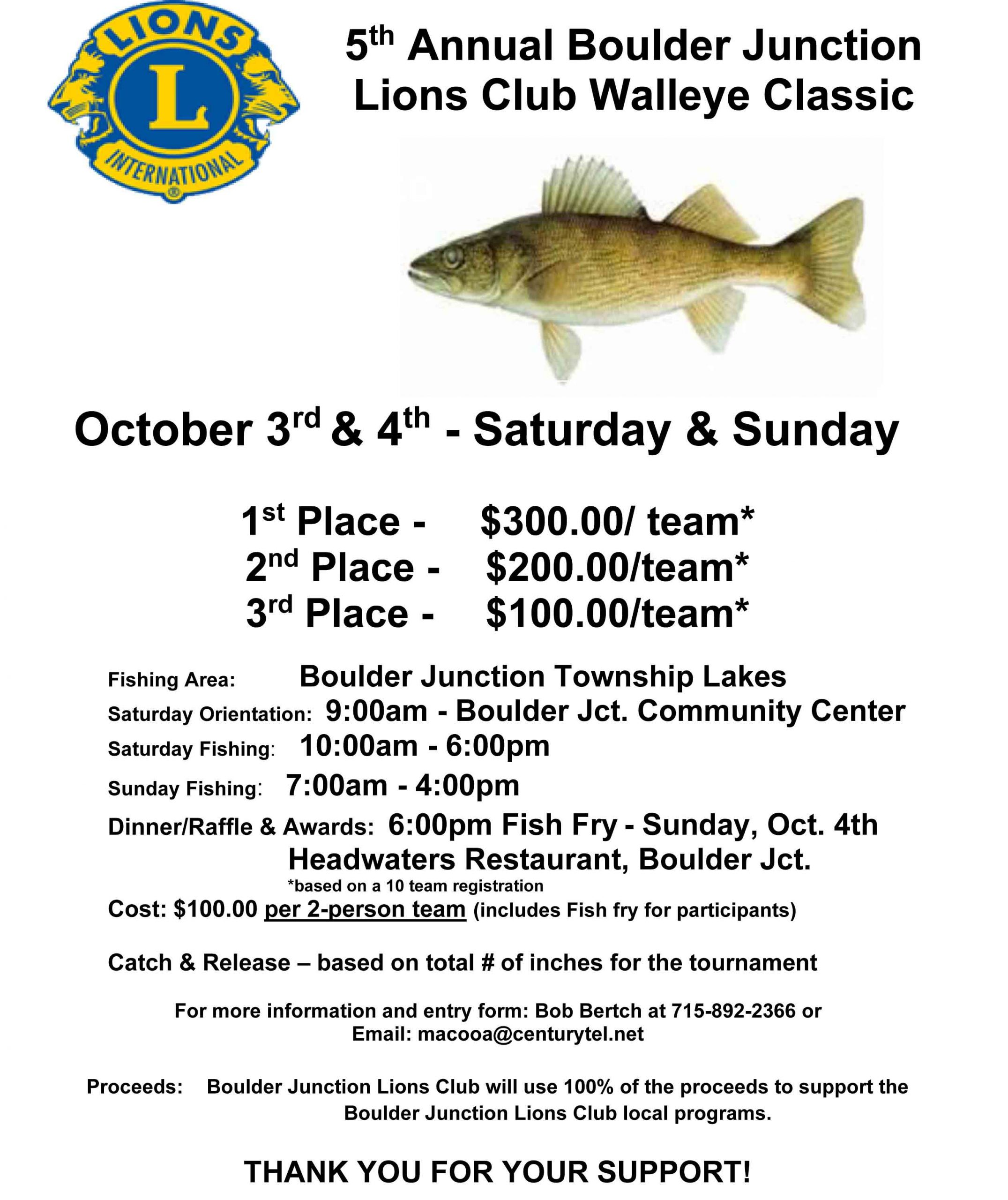 The 1st Annual Kiwanis Walleye Tournament