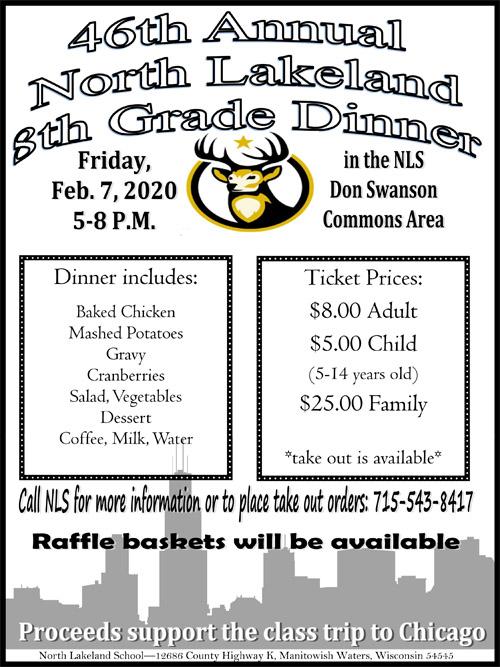 8th Grade Dinner 8x11 Flyer 2020
