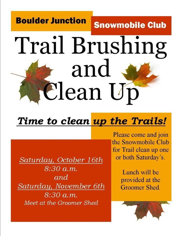 Bj Snowmobile Club Trail Clean Up